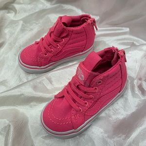 Vans Pink Hightop Shoes